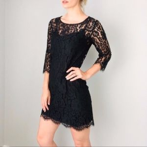 HD in Paris   Anthro Two Piece Black Lace Dress